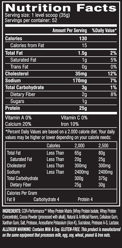 Cellucor-COR-Performance-Whey-nutrition-label