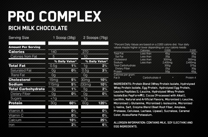 Optimum-Nutrition-Pro-Complex-nutrition-label