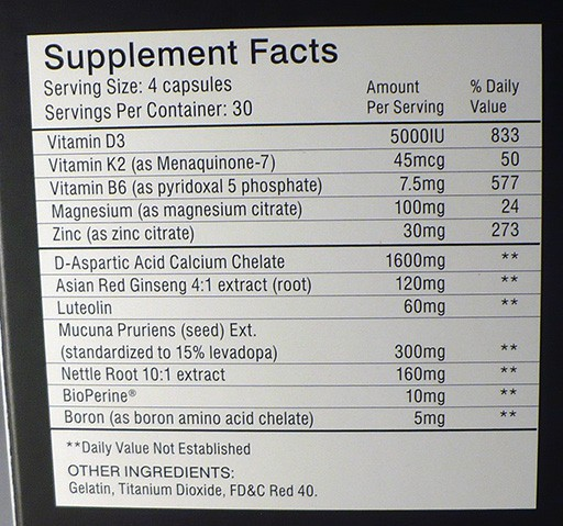 Prime-Male-Supplement-Facts