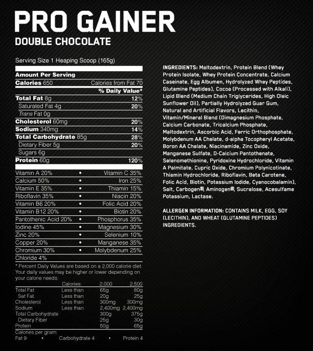 ProGainer-Supp-Facts
