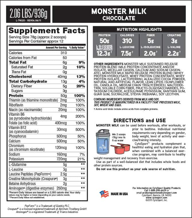 monster-milk-supplement-facts