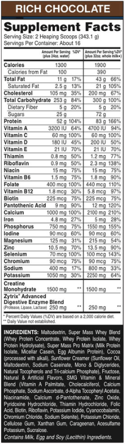 super-mass-gainer-nutrition-facts