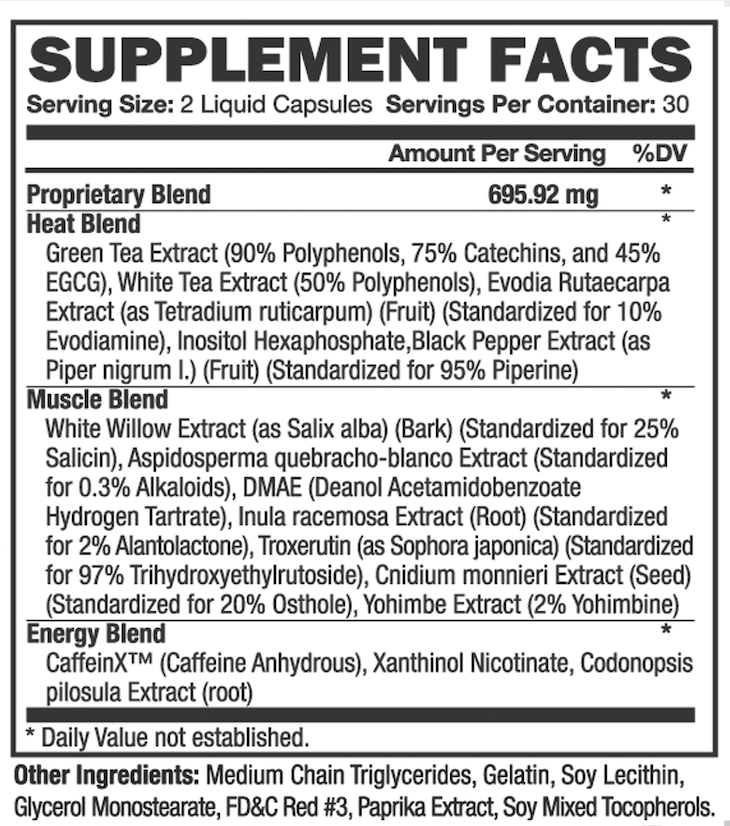 thermakor-nutrition-label