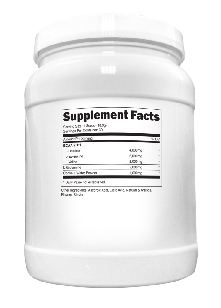 Transparent Labs CoreSeries BCAA Glutamine Supplement Facts
