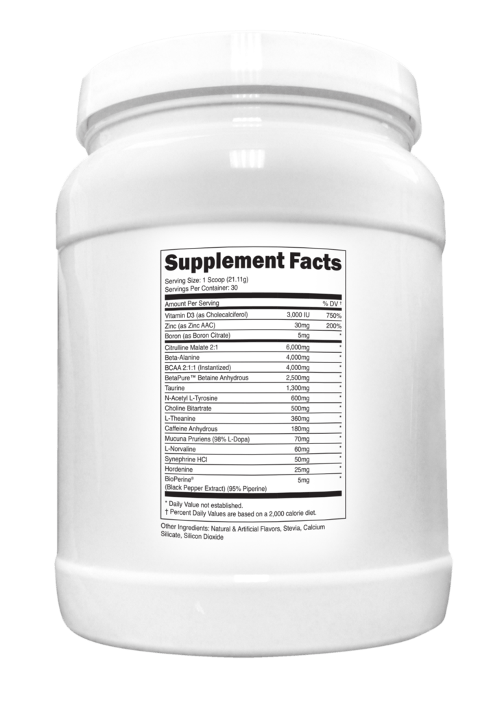 Transparent Labs PreSeries LEAN Supplement Facts