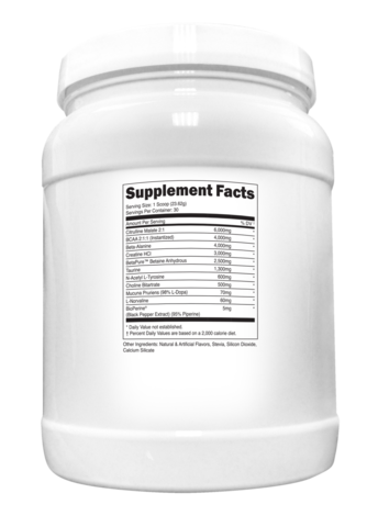 Transparent Labs PreSeries STIM-FREE Supplement Facts