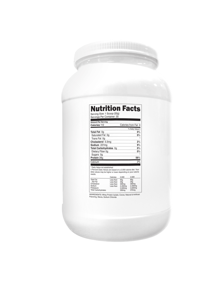 Transparent Labs ProteinSeries 100 Grass-Fed Whey Protein Isolate supplement facts