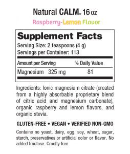 Natural-Vitality-Natural-Calm-nutrition-label