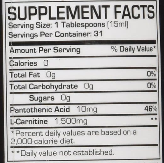 pro-supps-l-carnitine-ingredients