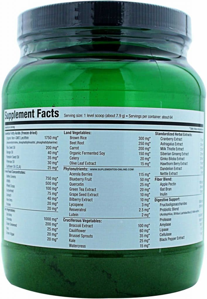 ultimate-nutrition-vegetable-greens-ingredients