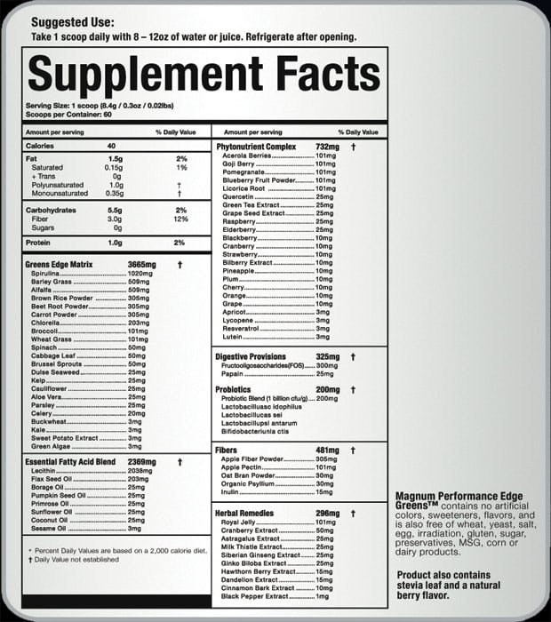magnum-nutraceuticals-performance-greens-ingredients
