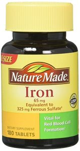 Nature Made Iron 65 mg Tablets