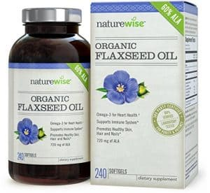 NatureWise Flaxseed Oil 1200mg with 720 mg ALA